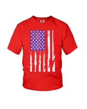 American Flag Gun Support T-Shirt  Youth T-Shirt thumbnail