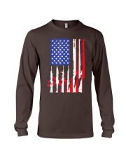 American Flag Gun Support T-Shirt  Long Sleeve Tee thumbnail