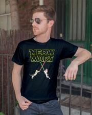 Meow Wars Cat Shirt Classic T-Shirt lifestyle-mens-crewneck-front-2