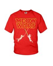 Meow Wars Cat Shirt Youth T-Shirt thumbnail