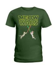 Meow Wars Cat Shirt Ladies T-Shirt thumbnail