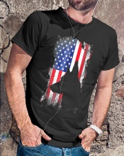 German Shepherd American Flag Shirt  Classic T-Shirt lifestyle-mens-crewneck-front-4