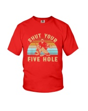 Shut Your Five Hole Retro Vintage Shirt Youth T-Shirt tile