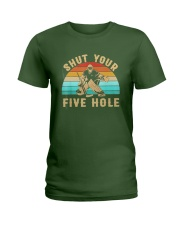 Shut Your Five Hole Retro Vintage Shirt Ladies T-Shirt thumbnail