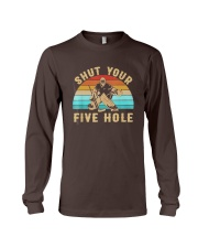 Shut Your Five Hole Retro Vintage Shirt Long Sleeve Tee tile