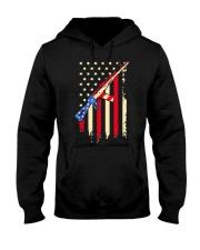 American Flag T Shirt Hooded Sweatshirt thumbnail