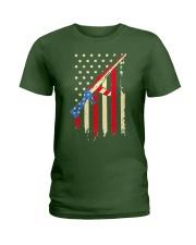American Flag T Shirt Ladies T-Shirt thumbnail
