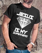 Jesus Is My Superhero Shirt Classic T-Shirt lifestyle-mens-crewneck-front-4