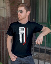 Hockey Flag T-Shirt for Hockey Fans Classic T-Shirt lifestyle-mens-crewneck-front-2