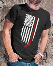 Hockey Flag T-Shirt for Hockey Fans Classic T-Shirt lifestyle-mens-crewneck-front-4