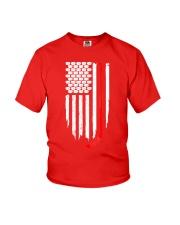 Hockey Flag T-Shirt for Hockey Fans Youth T-Shirt thumbnail