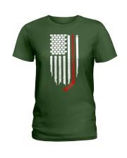 Hockey Flag T-Shirt for Hockey Fans Ladies T-Shirt thumbnail