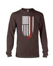 Hockey Flag T-Shirt for Hockey Fans Long Sleeve Tee thumbnail