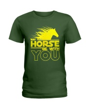 May The Horse Be With U You Ladies T-Shirt thumbnail