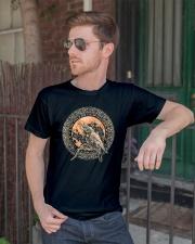 Viking Odin's Ravens Hugin and Munin T-Shirt  Classic T-Shirt lifestyle-mens-crewneck-front-2