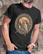 Viking Odin's Ravens Hugin and Munin T-Shirt  Classic T-Shirt lifestyle-mens-crewneck-front-4
