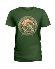 Viking Odin's Ravens Hugin and Munin T-Shirt  Ladies T-Shirt thumbnail