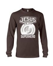 Jesus Is My Superhero Art Long Sleeve Tee thumbnail