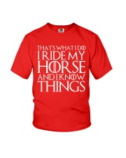 THAT'S WHAT I DO I RIDE MY HORSE Youth T-Shirt thumbnail
