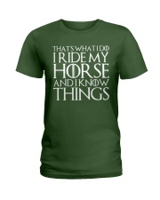 THAT'S WHAT I DO I RIDE MY HORSE Ladies T-Shirt thumbnail