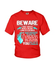 Horse Lover Beware I Ride Horses T Shirt Youth T-Shirt thumbnail