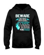 Horse Lover Beware I Ride Horses T Shirt Hooded Sweatshirt thumbnail