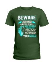 Horse Lover Beware I Ride Horses T Shirt Ladies T-Shirt thumbnail