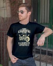 Real Grandpas Ride Motorcycle T-shirt Classic T-Shirt lifestyle-mens-crewneck-front-2