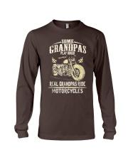 Real Grandpas Ride Motorcycle T-shirt Long Sleeve Tee thumbnail