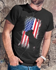 American Pit Bull Terrier USA Flag Shirt  Classic T-Shirt lifestyle-mens-crewneck-front-4