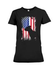 American Pit Bull Terrier USA Flag Shirt  Premium Fit Ladies Tee thumbnail