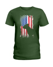 American Pit Bull Terrier USA Flag Shirt  Ladies T-Shirt thumbnail