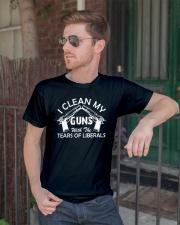 I Clean My Gun Classic T-Shirt lifestyle-mens-crewneck-front-2