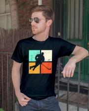 Ice Hockey Player Stick Goalie Retro Vintage  Classic T-Shirt lifestyle-mens-crewneck-front-2