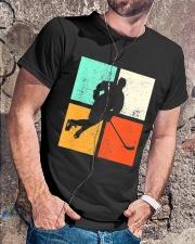 Ice Hockey Player Stick Goalie Retro Vintage  Classic T-Shirt lifestyle-mens-crewneck-front-4