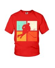 Ice Hockey Player Stick Goalie Retro Vintage  Youth T-Shirt thumbnail