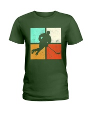 Ice Hockey Player Stick Goalie Retro Vintage  Ladies T-Shirt thumbnail
