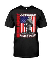Veteran Patriotic American Flag T-shirt Classic T-Shirt front