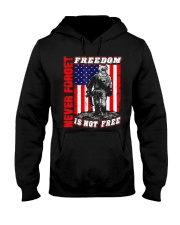 Veteran Patriotic American Flag T-shirt Hooded Sweatshirt thumbnail