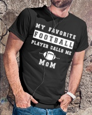My Favorite Football Player Calls Me Mom  Classic T-Shirt lifestyle-mens-crewneck-front-4