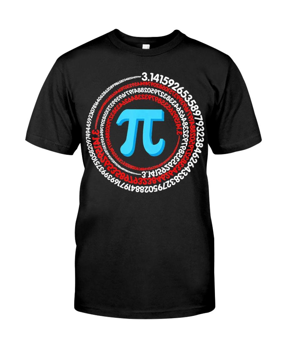 Pi Spiral Novelty Shirt Classic T-Shirt