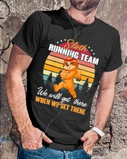 Sloth Running Team Sports Lover Classic T-Shirt lifestyle-mens-crewneck-front-4