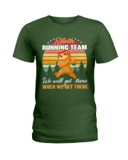 Sloth Running Team Sports Lover Ladies T-Shirt thumbnail