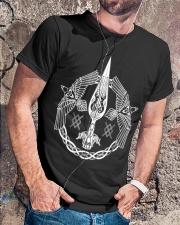 Odin's Spear Ravens Norse Runes Classic T-Shirt lifestyle-mens-crewneck-front-4