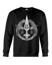 Odin's Spear Ravens Norse Runes Crewneck Sweatshirt thumbnail