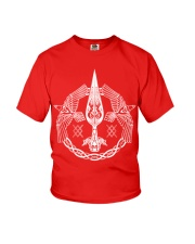 Odin's Spear Ravens Norse Runes Youth T-Shirt thumbnail