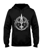 Odin's Spear Ravens Norse Runes Hooded Sweatshirt thumbnail