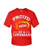 Proud Mom Of A Football Lineman T-Shirt Youth T-Shirt thumbnail