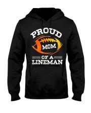 Proud Mom Of A Football Lineman T-Shirt Hooded Sweatshirt thumbnail