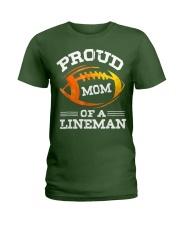 Proud Mom Of A Football Lineman T-Shirt Ladies T-Shirt thumbnail